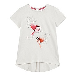 Baker by Ted Baker - Girls' white bird print diamante top