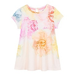 Baker by Ted Baker - Girls' light pink floral print top