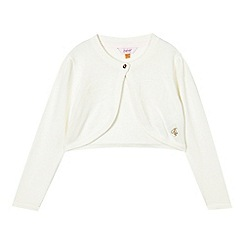 Baker by Ted Baker - Girls' cream glitter bow textured cardigan