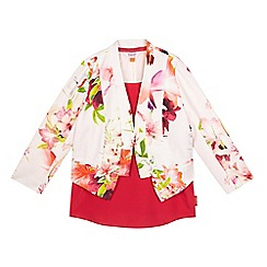 Baker by Ted Baker - Girls' pink rose print blazer and top set