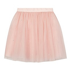 Baker by Ted Baker - Girls' pink diamante tulle skirt