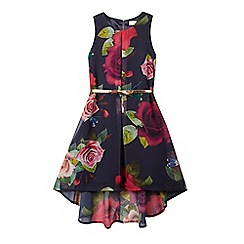 Baker by Ted Baker - Girls' navy rose dress