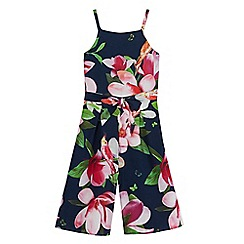 Baker by Ted Baker - Girls' multi-coloured floral print culotte jumpsuit