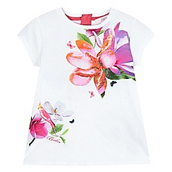 Baker by Ted Baker - Girls' white floral print top