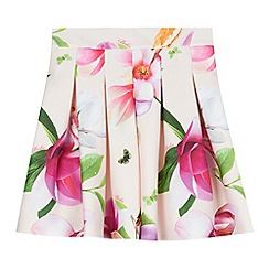 Baker by Ted Baker - Girls' light pink floral pleated skirt