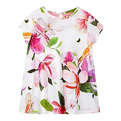Baker by Ted Baker - Girls' white floral print swing top