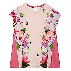 Baker by Ted Baker - Girls' pink asymmetric floral top