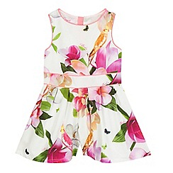 Baker by Ted Baker - Girls' pink floral print playsuit