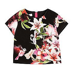 Baker by Ted Baker - Girls' black bird floral top