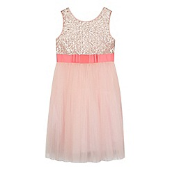 Baker by Ted Baker - Girls' pink sequinned tulle dress