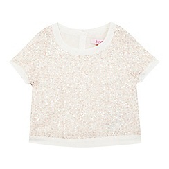 Baker by Ted Baker - Girls' off white sequin top