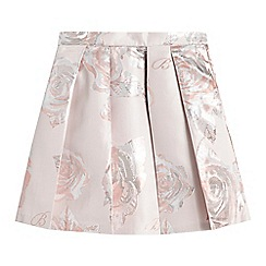 Baker by Ted Baker - Girls' light pink pleated rose skirt