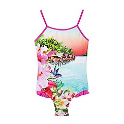 Baker by Ted Baker - Girls' pink placement swimsuit