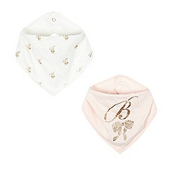 Baker by Ted Baker - Pack of two baby girls' light pink bibs