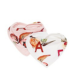 Baker by Ted Baker - Pack of two baby girls' light pink hairbands