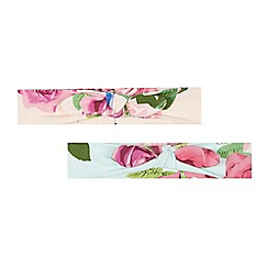 Baker by Ted Baker - Pack of two baby girls' pink rose hair bands