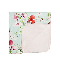 Baker by Ted Baker - Light green floral blanket