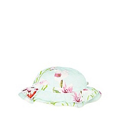 Baker by Ted Baker - Baby girls' light green floral print hat