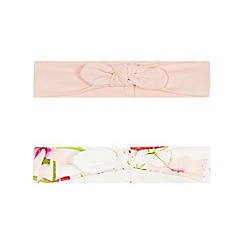 Baker by Ted Baker - Pack of two baby girls' light green bird and flower headband