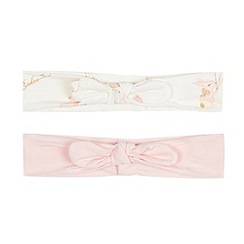 Baker by Ted Baker - Pack of two baby girls' pink bunny print headbands