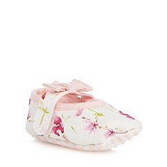 Baker by Ted Baker - Baby girls' white floral print bow detail shoes