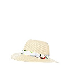 Baker by Ted Baker - Girls' beige straw floppy hat