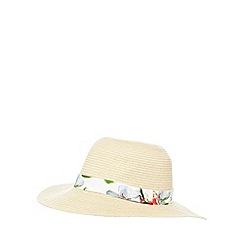 Baker by Ted Baker - Girls' beige straw floppy hat