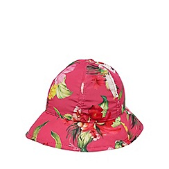 Baker by Ted Baker - Girls' pink floral print fisherman hat