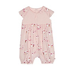 Baker by Ted Baker - Baby girls' light pink pleated romper suit
