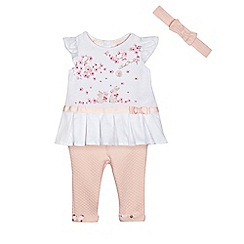 Baker by Ted Baker - Baby girls' light pink t-shirt and leggings set