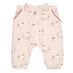 Baker by Ted Baker - Baby girls' light pink bunny print harem trousers