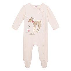Baker by Ted Baker - Baby girls' pink velour sleepsuit