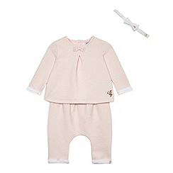 Baker by Ted Baker - Baby girls' pink quilted top and trousers set