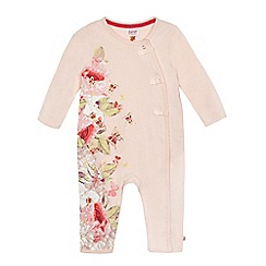 Baker by Ted Baker - Baby girls' pink floral butterfly print romper suit
