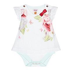 Baker by Ted Baker - Baby girls' white floral print bodysuit