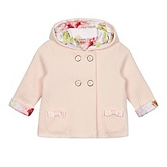 Baker by Ted Baker - Baby girls' pink quilted ear applique jacket