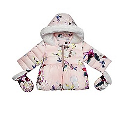 Baker by Ted Baker - Baby girls' pink bird print coat