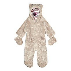 Baker by Ted Baker - Baby girls' light pink faux fur snowsuit