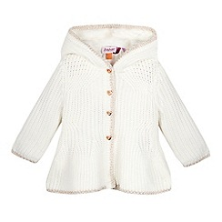 Baker by Ted Baker - Baby girls' off white peplum hooded cardigan