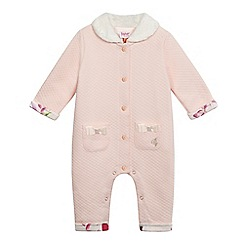 Baker by Ted Baker - Baby girls' pink textured snugglesuit