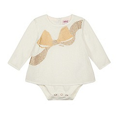 Baker by Ted Baker - Baby girls' off white bow applique bodysuit