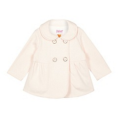 Baker by Ted Baker - Baby girls' light pink fleece jacket