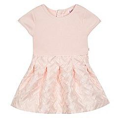 Baker by Ted Baker - Baby girls' pink mock lattice dress
