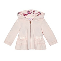 Baker by Ted Baker - Baby girls' light pink peplum hoodie