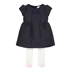 Baker by Ted Baker - Baby girls' navy pique dress