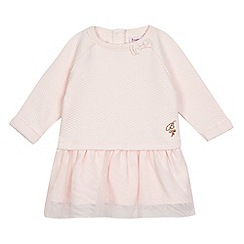 Baker by Ted Baker - Baby girls' light pink textured tulle dress