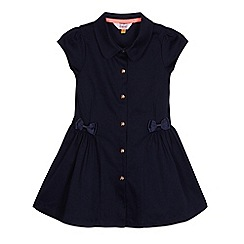 Baker by Ted Baker - Girls' navy textured shirt dress