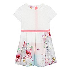 Baker by Ted Baker - Girls' white floral print dress