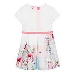 Baker by Ted Baker - Girls' white floral print dress