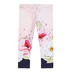Baker by Ted Baker - Girls' pink floral print leggings
